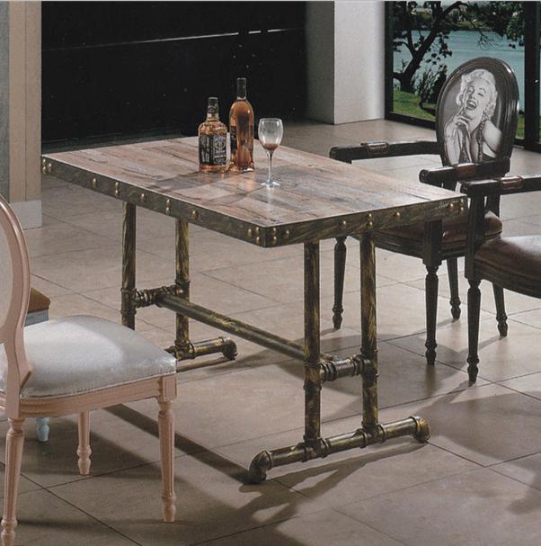 主题餐厅铁艺桌椅 复古主题餐厅餐饮桌 主题餐厅桌椅组合