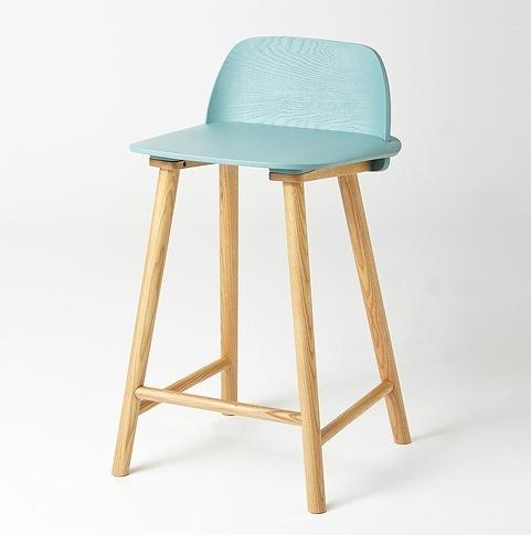 北欧咖啡厅冰淇淋吧椅_现代简约创意吧台实木椅高脚凳_咖啡厅前台吧凳