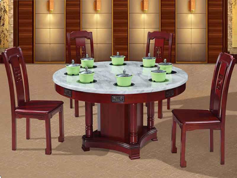 实木火锅桌子--定做实木火锅桌厂家海德利