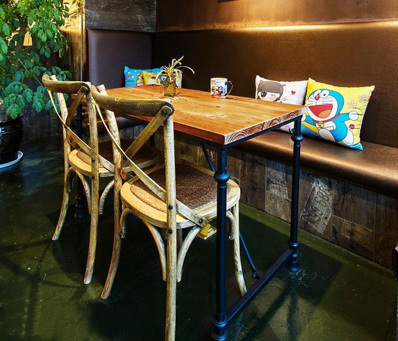 2017时尚浪漫咖啡馆餐桌椅 咖啡厅桌椅组套 咖啡桌椅厂家定做直销