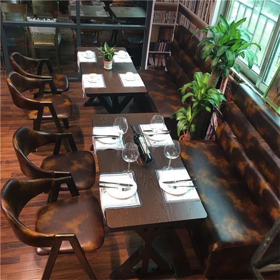 2017新款实木复古咖啡厅椅子-咖啡厅餐桌家具