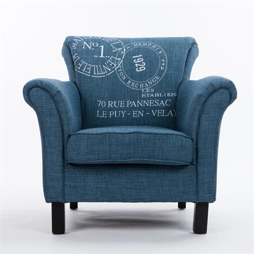 时尚简约布艺单人沙发-沙发定做厂家海德利品牌