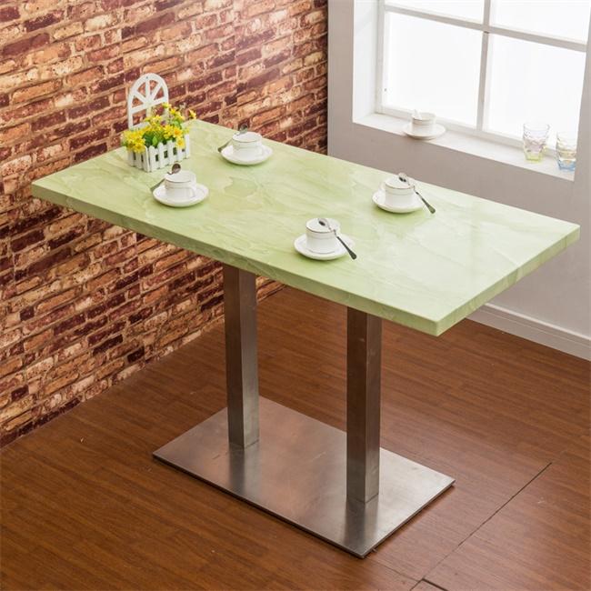 【西餐厅家具】最新简约西餐厅桌子-方形西餐厅桌子大理石