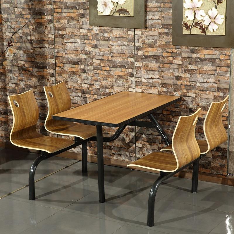 不锈钢食堂餐桌椅_四人位食堂餐桌椅-食堂餐桌椅连体