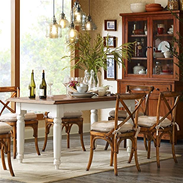 美式经典怀旧西餐厅家具_美式风格西餐厅餐桌