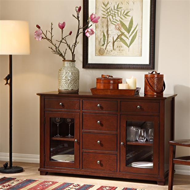 自然乡村风格进口赤杨木餐边柜 多功能储物柜 实木餐具柜 BCG006