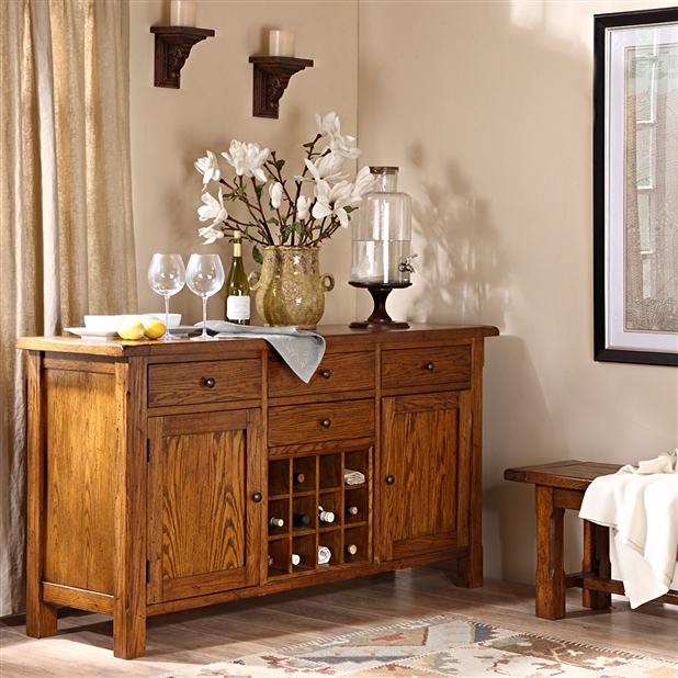 【海德利餐厅配套家具】传统经典中式全实木餐边柜BCG007