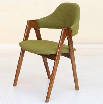 实木休闲靠背软包布艺茶餐厅餐桌椅_现代茶餐厅椅子