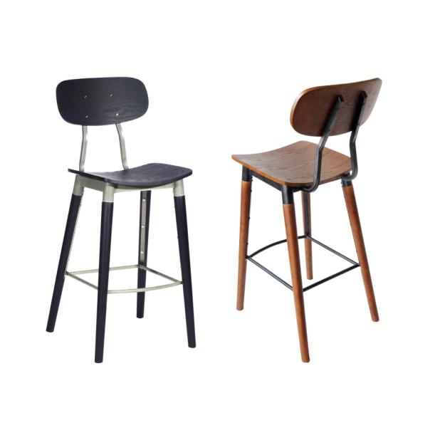 现代风格咖啡厅吧凳_咖啡馆铁艺吧椅BY-005