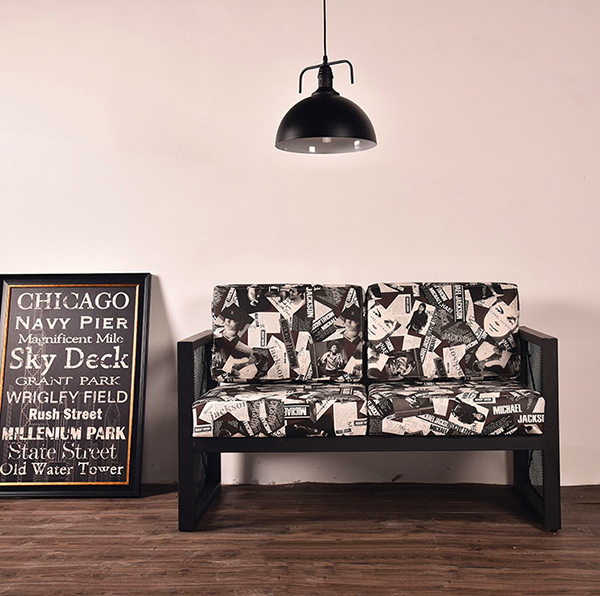 工业风复古铁艺沙发酒吧奶茶店咖啡桌休闲沙发组合