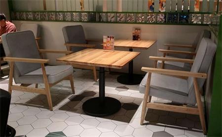 中米饭厅桌椅
