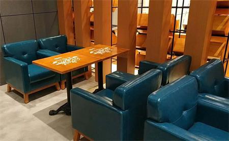 咖啡厅桌椅卡座沙发