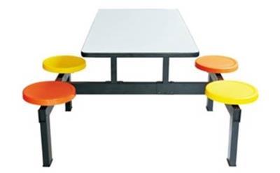 连体食堂桌椅