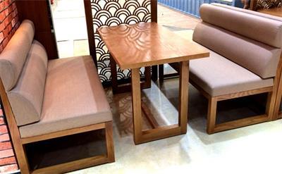 咖啡厅桌子、卡座沙发