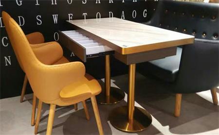 大理石咖啡厅桌椅组合