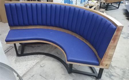 餐厅弧形卡座沙发