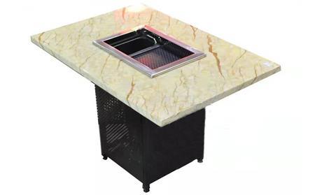 大理石烧烤桌