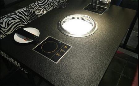 火烧石火锅烧烤一体桌