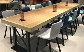 西餐厅桌椅实木