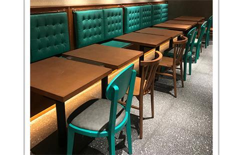 西餐厅桌椅卡座