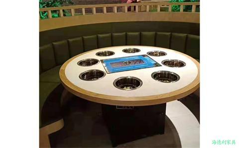 12人电磁炉火锅桌