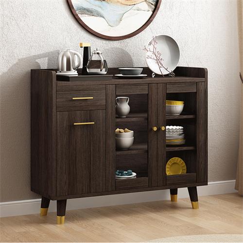 定制现代简约实木靠墙备餐柜实木