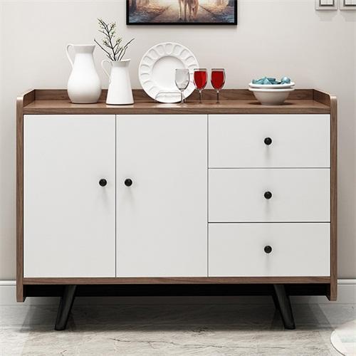 优质实木餐厅靠墙备餐柜家具定制