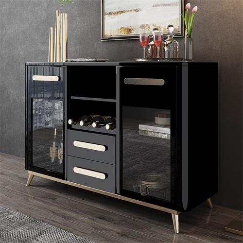 现代新中式时尚餐厅备餐柜不锈钢