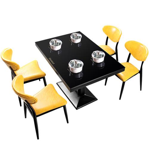 一人一锅钢化玻璃台面电磁炉火锅桌