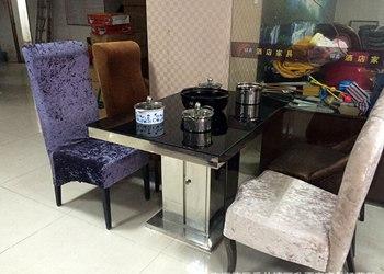 钢化玻璃火锅桌 电磁炉不锈钢火锅桌椅组合-厂家批发