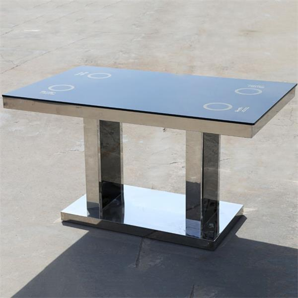 钢化玻璃自助火锅烧烤一体桌
