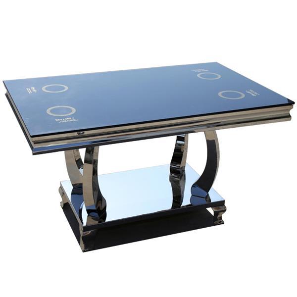 钢化玻璃面火锅桌 隐形韩式烧烤桌子