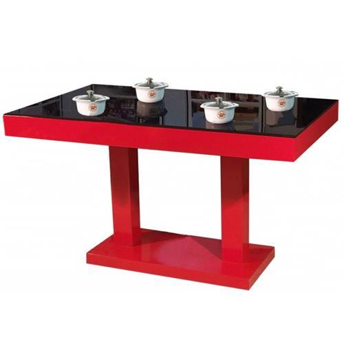 现代简约钢化玻璃火锅桌椅