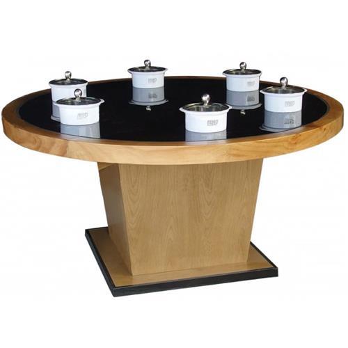 钢化玻璃隐形火锅桌一人一锅小火锅桌