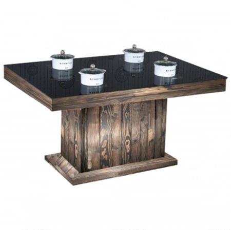 钢化玻璃火锅店餐厅餐馆长方形桌