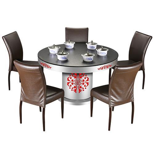不锈钢桌架隐形电磁炉玻璃火锅桌