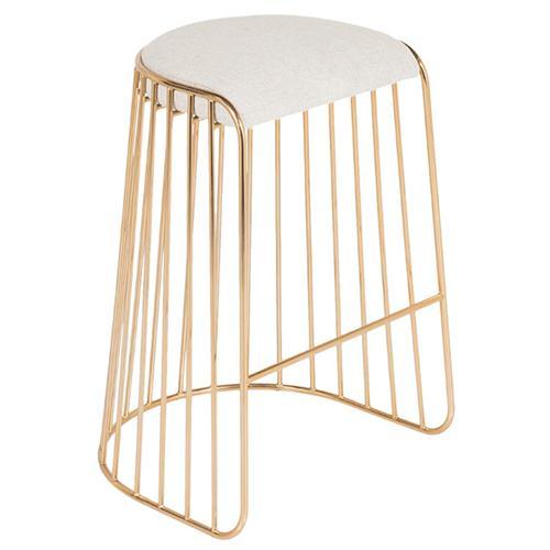 现代时尚咖啡厅不锈钢高脚椅家具