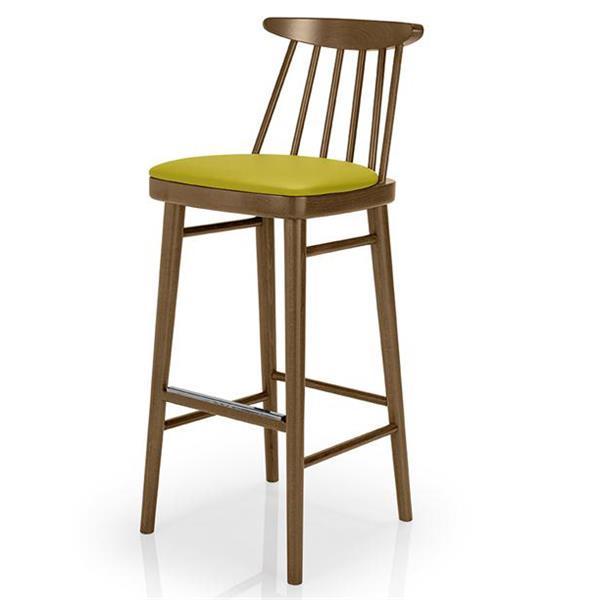 美式乡村实木咖啡店吧台高脚椅