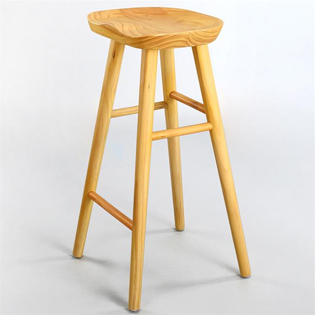 欧式简约吧台椅_实木复古咖啡厅高脚椅_星巴克椅子