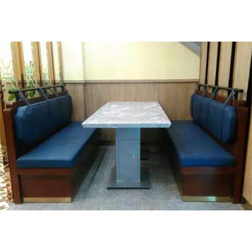 新款大理石港式茶餐厅桌椅卡座_茶餐厅桌椅定做