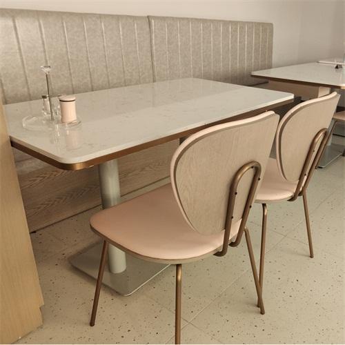 粤式茶餐厅茶楼轻奢时尚茶餐厅桌椅