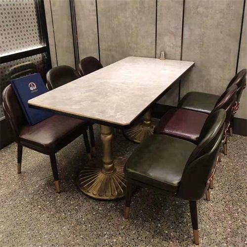 中式茶餐厅现代风格大理石茶餐桌_茶餐桌椅厂家定做