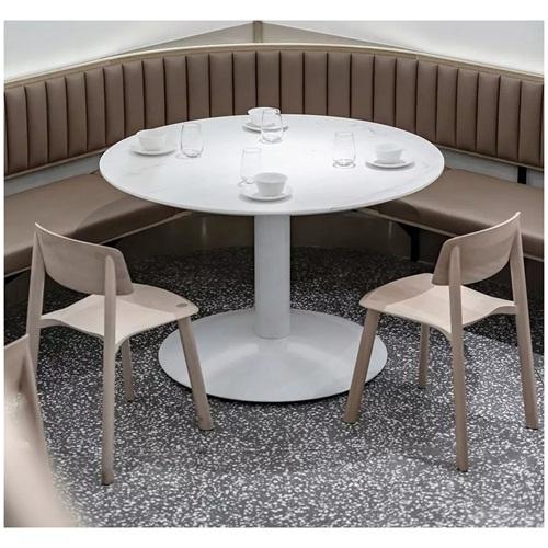现代风格港式茶餐厅白色大理石茶餐桌_茶楼桌椅生产厂家