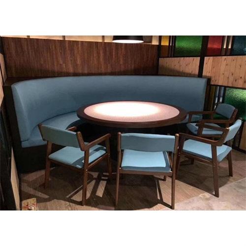 时尚新式粤菜港式茶餐厅弧形卡座沙发桌椅