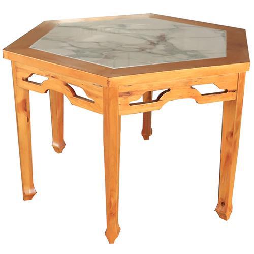 实木围边大理石桌面菱形八仙桌_仿古明清茶餐厅餐桌