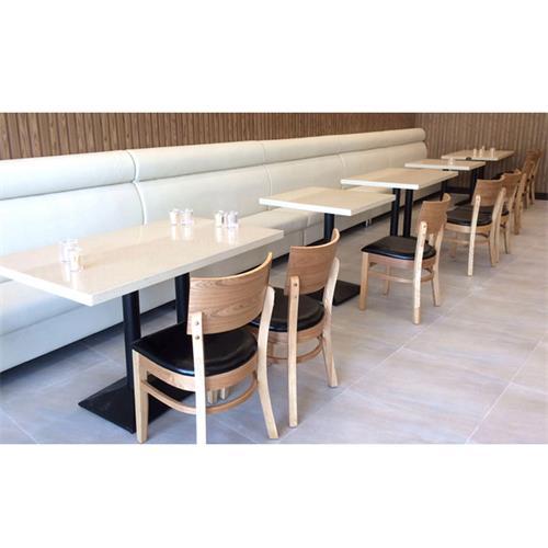 茶餐厅大理石桌椅_快餐厅高档人造石餐桌椅--厂家批发直销