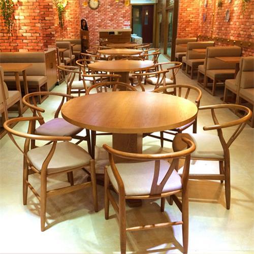 湘菜馆川菜餐厅港式茶餐厅圆形餐桌圈椅组合