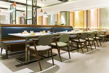 港式时尚新式茶餐厅桌椅-茶餐厅家具定制厂家海德利