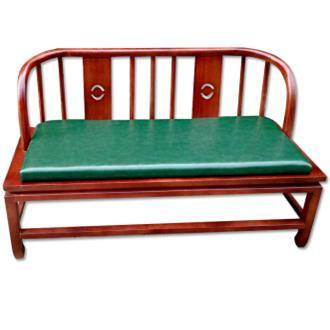 茶楼酒店中式卡座古典餐桌椅_实木仿古双人靠背沙发椅