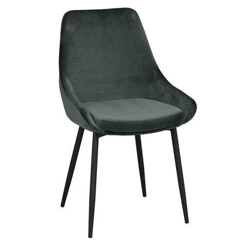高级餐厅时尚轻奢斜靠背金属椅子